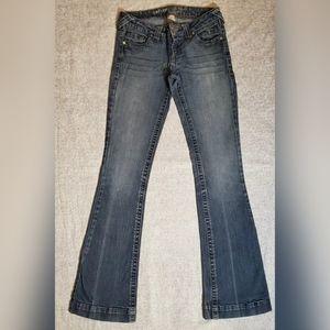 Refuge Jeans Size 3 Blue Denim Wide Leg/Flare